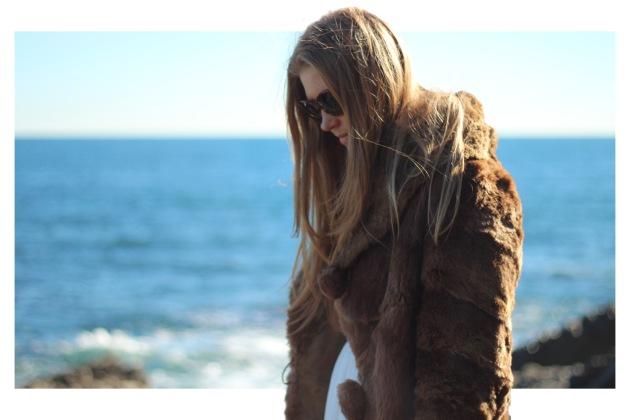 vintage fur coat street style